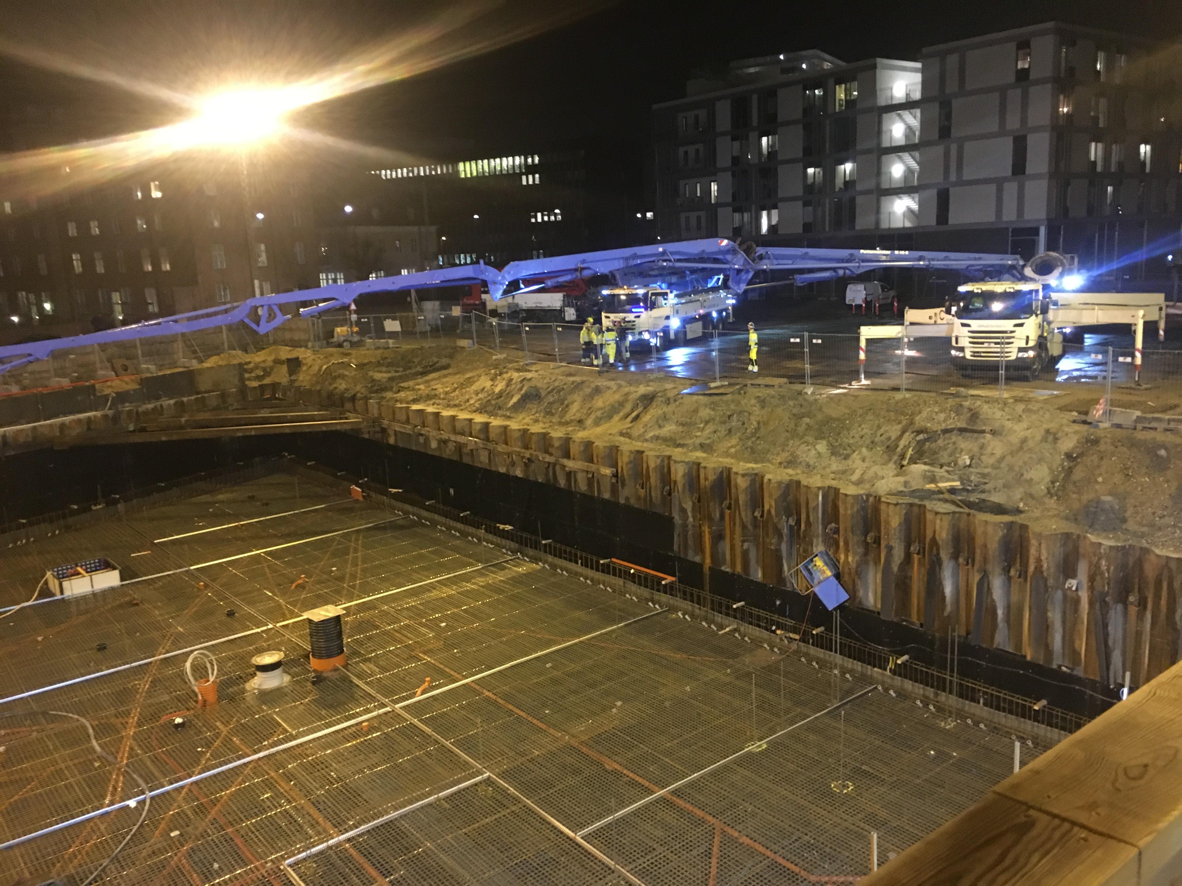 1200 kubikmeter beton til godsbanen byggefirmaet knudsgaard. Black Bedroom Furniture Sets. Home Design Ideas